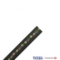 Huincha PU Diseño Negro 32mm