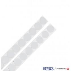 Velcro en Circulos 16mm Blanco Autoadhesivo Por Metro
