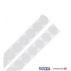Velcro en Circulos 20mm Blanco Autoadhesivo Por Metro
