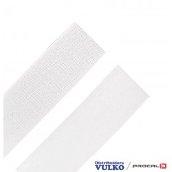 Velcro 38mm Blanco