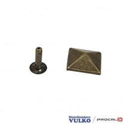 Adorno Piramide Remachada 15mm Envejecida